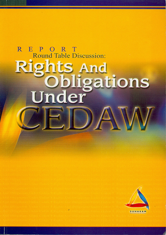 Report Round Table Discussion :rights and obligations under CEDAW||Rights and obligations under CEDAW|Round Table Discussion