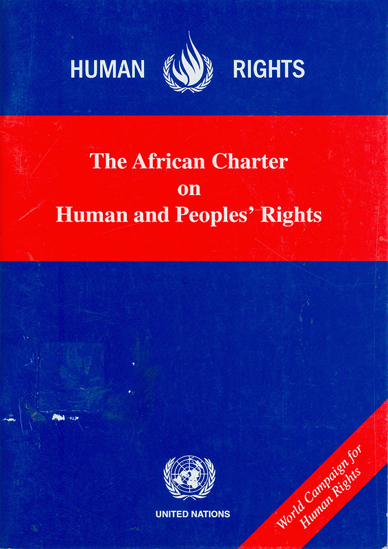 African charter on human and people's rights/United Nations Centre for Human Rights
