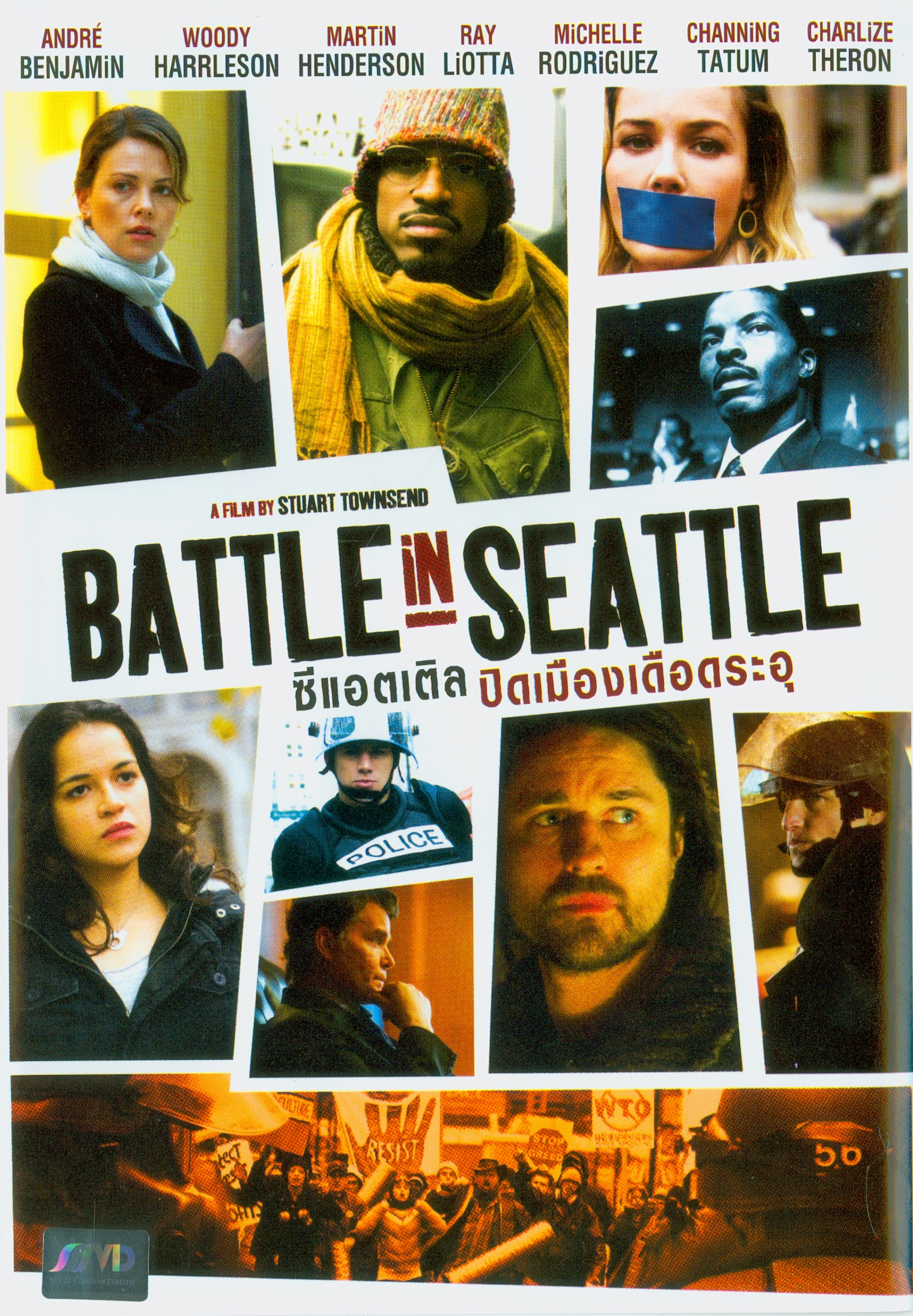 Battle in Seattle[videorecording] /Redwood Palms Releasing presents ; an Insight Film Studios, Remstar and Redwood Palms production ; Hyde Park International ; in association with Proud Mary Entertainment, Hyde Park Entertainment, 120DB Films, Firstar Films, and Grosvenor Park Media ; a film by Stuart Townsend||ซีแอตเติล ปิดเมืองเดือดระอุ