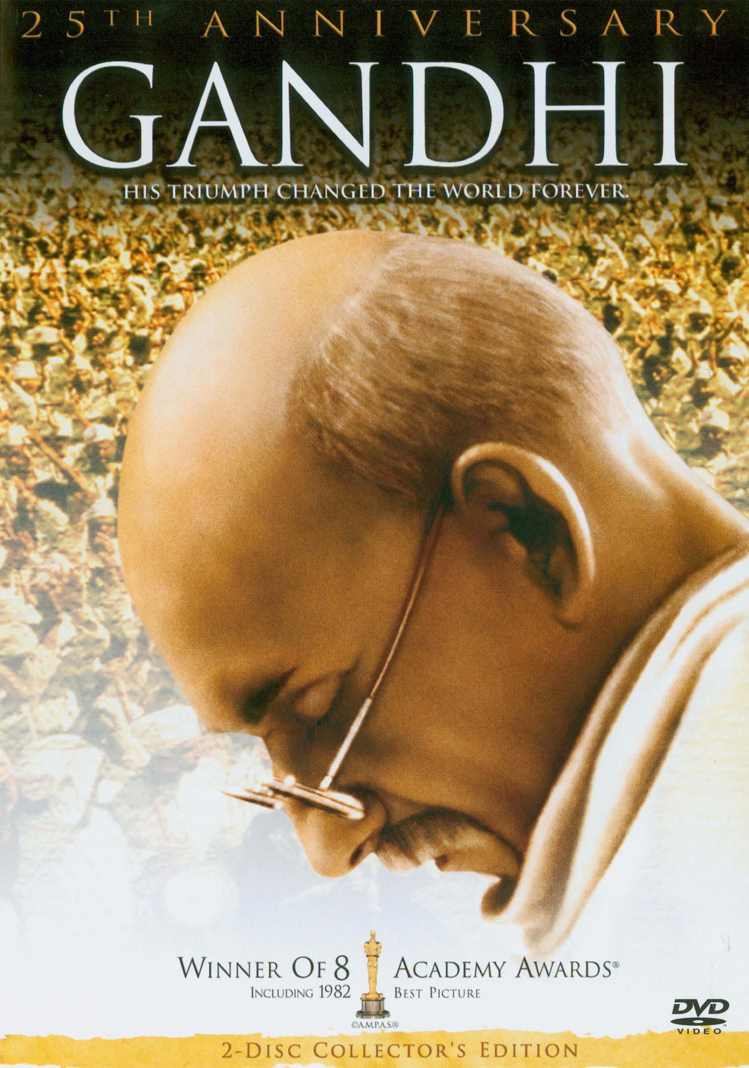 Gandhi[videorecording] /Columbia Pictures ; International Film Investors, Goldcrest Films International, National Film Development Corporation Ltd. of India, Indo-British Films Ltd. ; directors of photography, Billy Williams, Ronnie Taylor ; executive producer, Michael Stanley-Evans ; written by John Briley ; produced and directed by Richard Attenborough