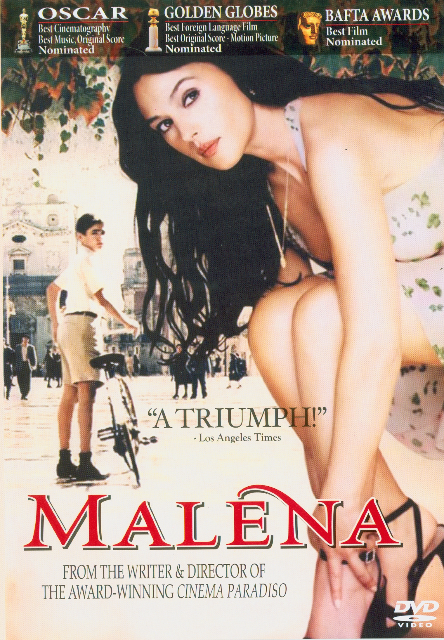 Malena[videorecording] /Miramax Films and Medusa Film present a Medusa Film/Miramax Films production ; a film by Giuseppe Tornatore ; written and directed by Giuseppe Tornatore ; producers, Harvey Weinstein, Carlo Bernasconi||เมลีน่า ผู้หญิงสะกดโลก