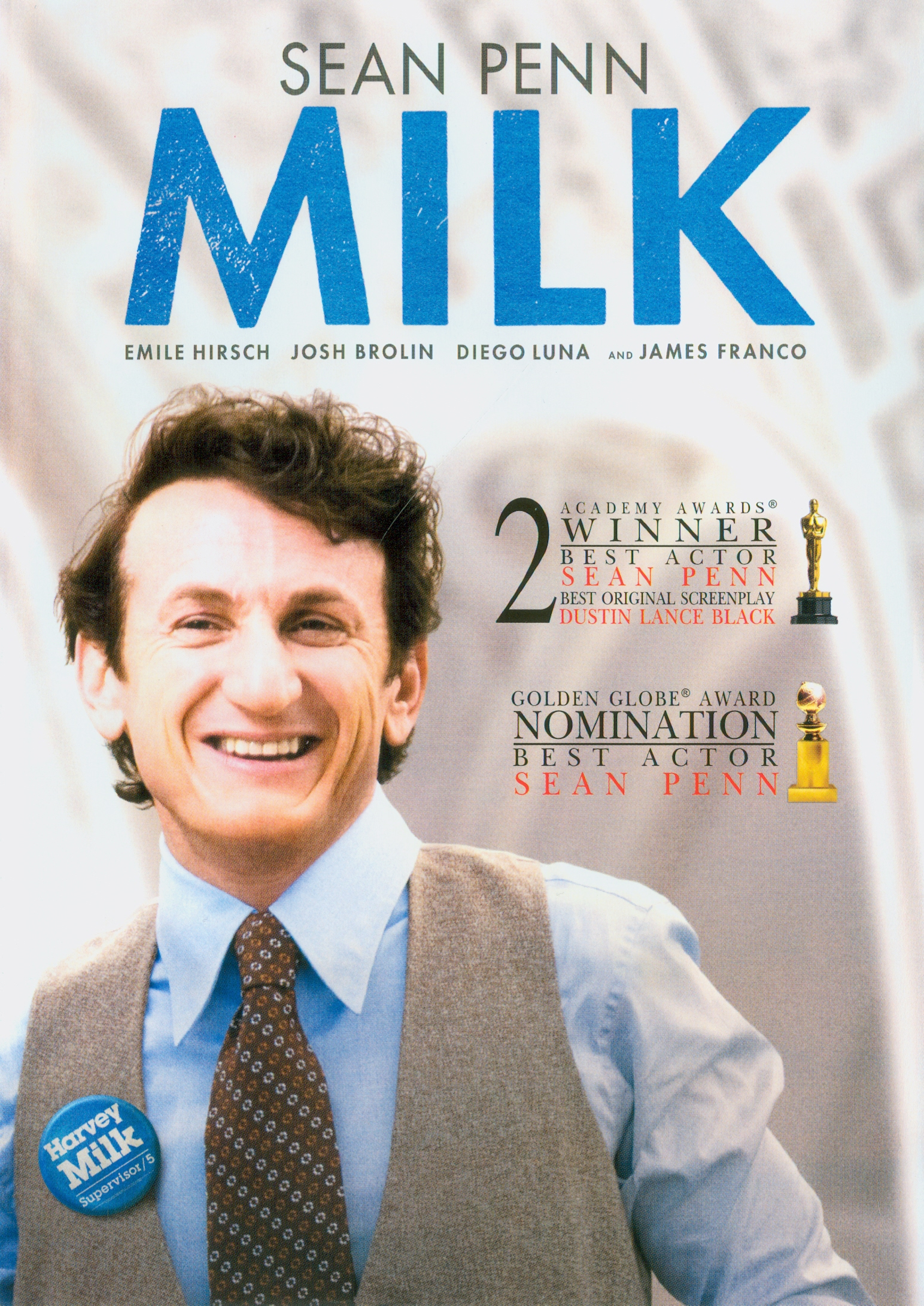 Milk[videorecording] /Focus Features presents Axon Films in association with Groundswell Productions ; Jinks/Cohen Company ; produced by Bruce Cohen, Dan Jinks,Michael London ; written by Dustin Lance Black ; directed by Gus Van Sant||ฮาร์วี่ย์ มิลค์ ผู้ชายฉาวโลก