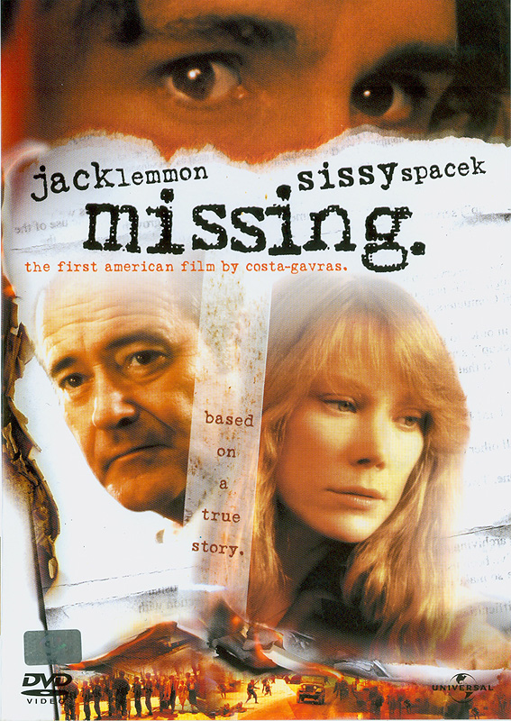 Missing[videorecording] /Universal Pictures and Polygram Pictures present an Edward Lewis production of aCosta-Gavras Film ; produced by Edward and Mildred Lewis ;screenplay by Costa-Gavras & Donald Stewart ; directed by Costa-Gavras||เหยื่อปฏิวัติ