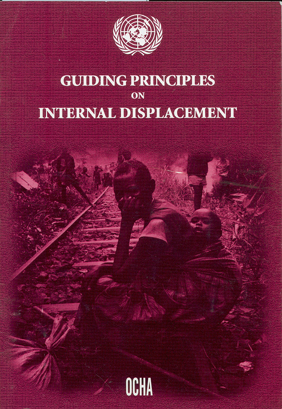 Guiding principles on internal displacement/Representative of the Secretary-General on Internally Displaced Persons (United Nations)