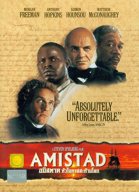 Amistad[videorecording] /Presented by Dream Works Pictures in association with HBO Pictures ; produced by Steven Spielberg, Debbie Allen, Colin Wilson ; written by David Franzoni ; directed by Steven Spielberg.||อมิสตาด หัวใจทาสสะท้านโลก||Edwards Black Heritage Collection
